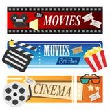 Bannières de film Image libre de droits