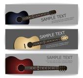 Bannières de guitare Photo libre de droits