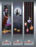 Bannières de Halloween Image stock
