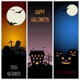 Bannières de Halloween Photographie stock