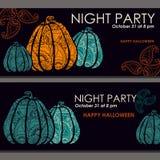 Bannières de Halloween, affiche, carte, fond Photo stock