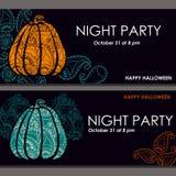 Bannières de Halloween, affiche, carte, fond illustration stock