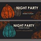 Bannières de Halloween, affiche, carte, fond illustration de vecteur