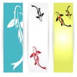 Bannières de koi d'arp illustration stock