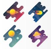 Bannières de l'espace réglées Images stock