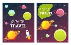 Bannières de l'espace réglées Photos libres de droits