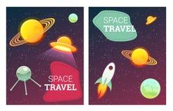 Bannières de l'espace réglées Image stock