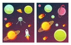 Bannières de l'espace réglées Photos stock