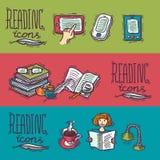 Bannières de lecture illustration libre de droits