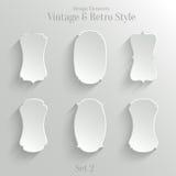 Bannières de livre blanc réglées dans le style de vintage Images stock