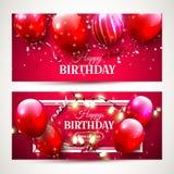 Bannières de luxe d'anniversaire illustration stock
