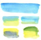 Bannières de main-aspiration d'aquarelle pour la conception et le fond Image stock