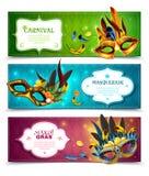 Bannières de mascarade réglées illustration stock