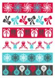 Bannières de Noël Photos stock