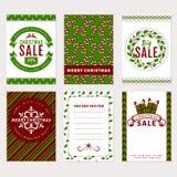 Bannières de Noël - cartes de remise, de salutation et d'invitation illustration libre de droits