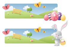 Bannières de Pâques Photographie stock