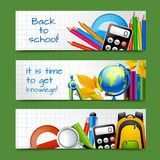 Bannières de papier d'école illustration libre de droits
