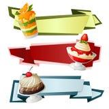 Bannières de papier de bonbons Images libres de droits