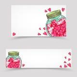Bannières de papier de jour de valentines réglées Images stock