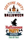 Bannières de partie de costume de Halloween Photographie stock libre de droits