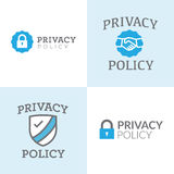 Bannières de politique de confidentialité Image libre de droits