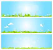 Bannières de ressort Image stock