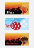 Bannières de restaurant Photos libres de droits