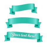 Bannières de ruban bleu réglées Vieille conception de style de vintage Éléments décoratifs de la meilleure qualité d'isolement su Image libre de droits