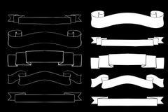 Bannières de ruban silhouettes illustration de vecteur