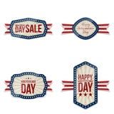 Bannières de salutation de Jour de la Déclaration d'Indépendance réglées Photographie stock