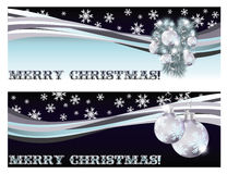 Bannières de salutation de Joyeux Noël Photographie stock