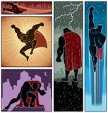 Bannières 3 de super héros Images stock