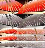 Bannières de sushi réglées Image stock