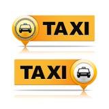 Bannières de taxi Image stock