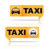 Bannières de taxi Images stock