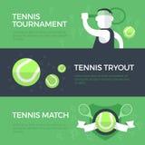 Bannières de tennis Photographie stock libre de droits