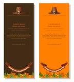 Bannières de thanksgiving réglées illustration stock