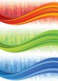 Bannières de vague de mosaïque illustration stock