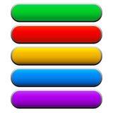 Bannières de vecteur, barres, boutons Illustration de Vecteur