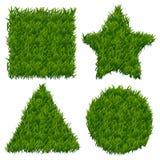 Bannières de vecteur d'herbe verte réglées Images libres de droits
