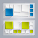 Bannières de vecteur d'Infographics avec des cubes Images stock