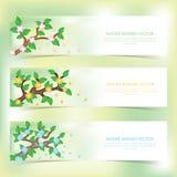 Bannières de vecteur de nature Images stock