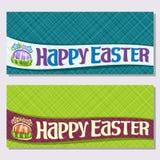 Bannières de vecteur pour des vacances de Pâques Photo stock