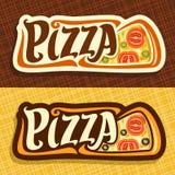Bannières de vecteur pour la pizza Photos libres de droits