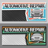 Bannières de vecteur pour la réparation d'automobiles illustration libre de droits