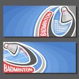 Bannières de vecteur pour le jeu de badminton Photographie stock libre de droits