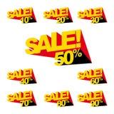 Bannières de vente Photo stock