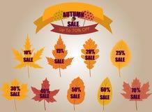 Bannières de vente d'automne image stock
