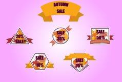 Bannières de vente d'automne image libre de droits