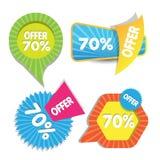 Bannières de vente ou de remise de Web Photo stock